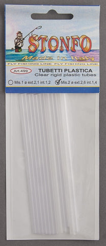 Stonfo Clear Rigid Plastic Tubes