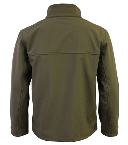 Vass Casualwear Softshell Jacket Khaki Green Back