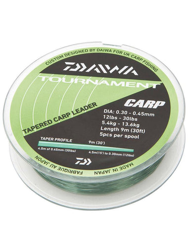 Daiwa Tapered Carp Leader 12-30lb