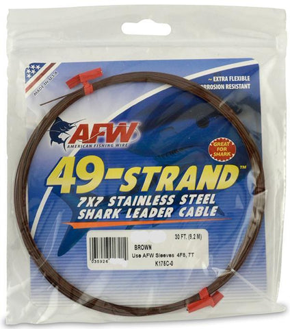 AFW 49 Strand 7x7 Stainless Steel Shark Leader Cable