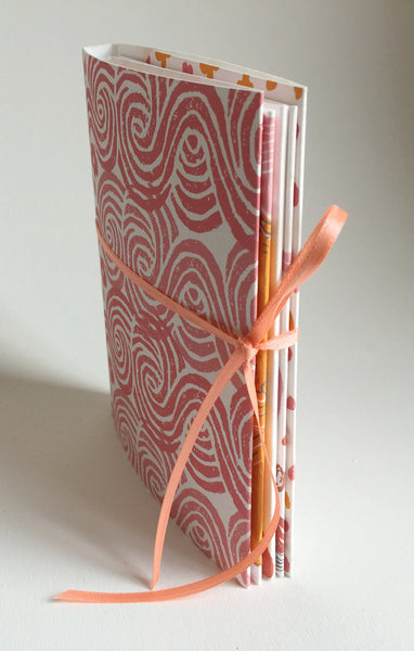 "Handmade Accordion Fold Book ""The Nature of Heaven and Hell, A Zen Parable"""