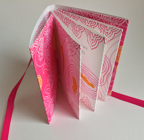 "Handmade Accordion Fold Book ""Sun Salutation"""