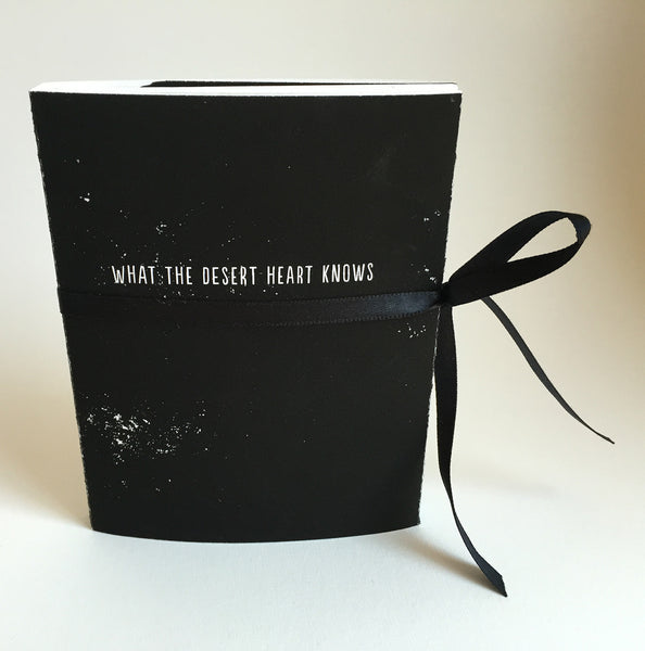 "Handmade Accordion Fold Book ""What the Desert Heart Knows"""