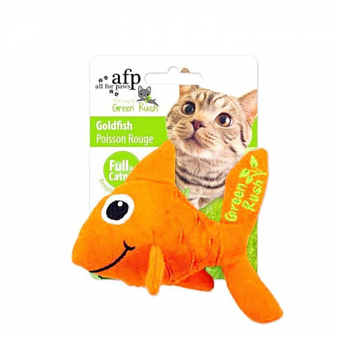 afp Green Rush Goldfish Catnip Toy