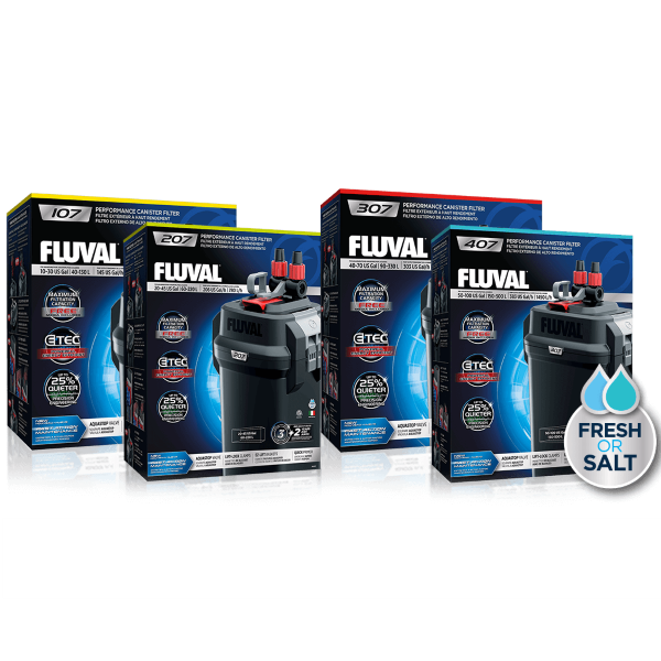 Fluval 07 Series External Canister Filter; Available in 4 sizes-Filtration & Circulation-Fluval-Petland Canada