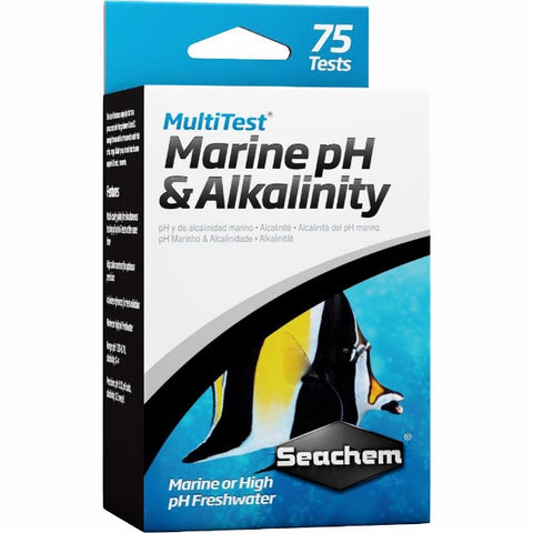 Seachem MultiTest Marine PH & Alkalinity, 75 tests-Marine Care-Seachem-Petland Canada