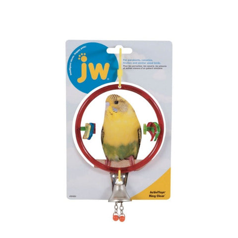 JW Activitoys Ring Clear Bird Toy