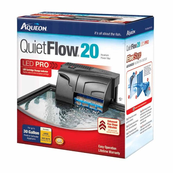 Aqueon Quietflow Power Filter; available in different styles-Filtration & Circulation-Aqueon-Quietflow Power Filter 20-Petland Canada