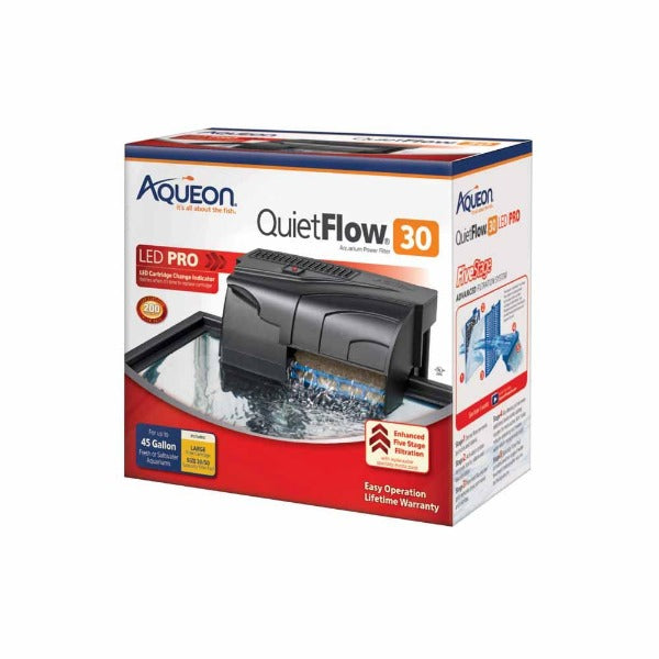 Aqueon Quietflow Power Filter; available in different styles-Filtration & Circulation-Aqueon-Quietflow Power Filter 30-Petland Canada
