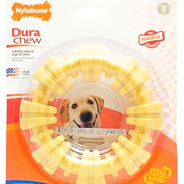 Nylabone Durachew Textured Ring Chicken Flavor Souper