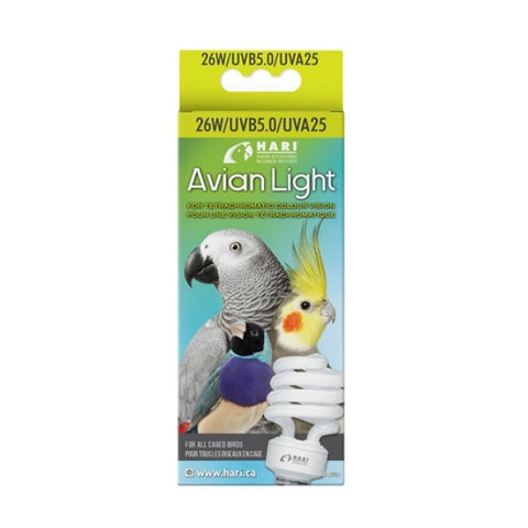 HARI Avian Light Bulb 26W/UVB 5.0/UVA 25