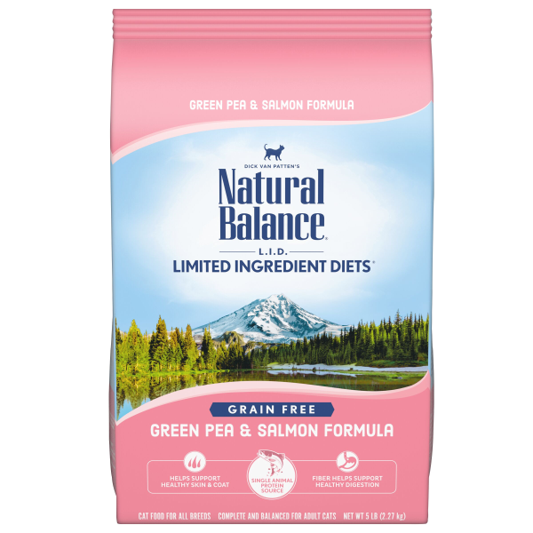 Natural Balance L.I.D Dry Cat Food, Green Pea & Salmon Formula; Available in 2 sizes-Food Center-Natural Balance-5 lbs-Petland Canada