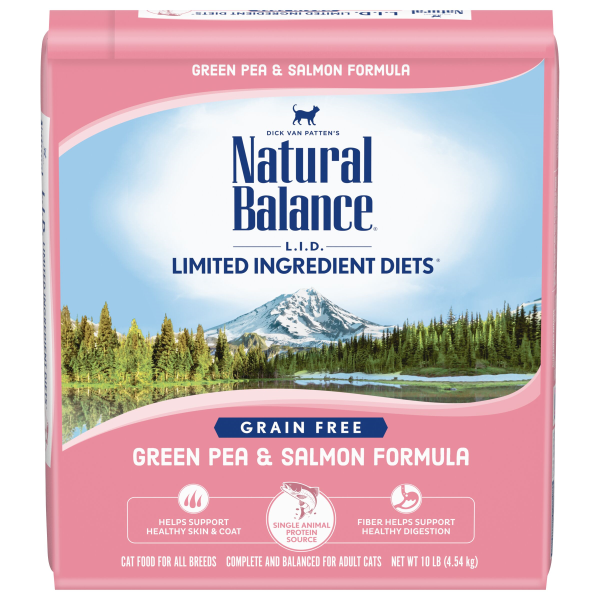 Natural Balance L.I.D Dry Cat Food, Green Pea & Salmon Formula; Available in 2 sizes-Food Center-Natural Balance-10 lbs-Petland Canada