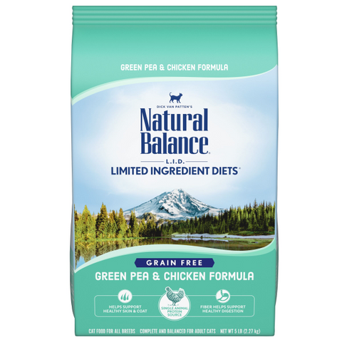 Natural Balance L.I.D Dry Cat Food Green Pea & Chicken Formula; Available in 2 sizes-Food Center-Natural Balance-5 lbs-Petland Canada