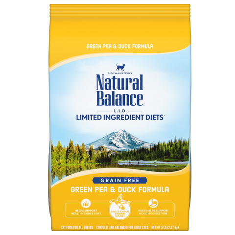 Natural Balance Dry Cat Food, Green Pea & Duck Formula; Available in 2 sizes.-Food Center-Natural Balance-5 lbs-Petland Canada