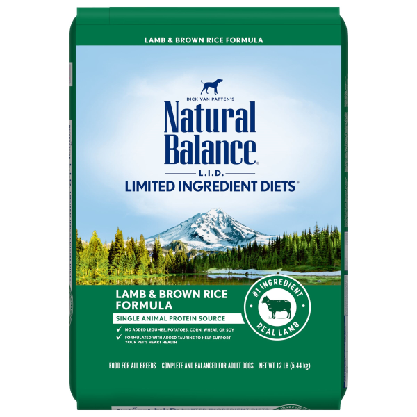 Natural Balance L.I.D. Lamb Meal & Brown Rice Dry Dog Formula-Food Center-Natural Balance-12 lbs-Petland Canada