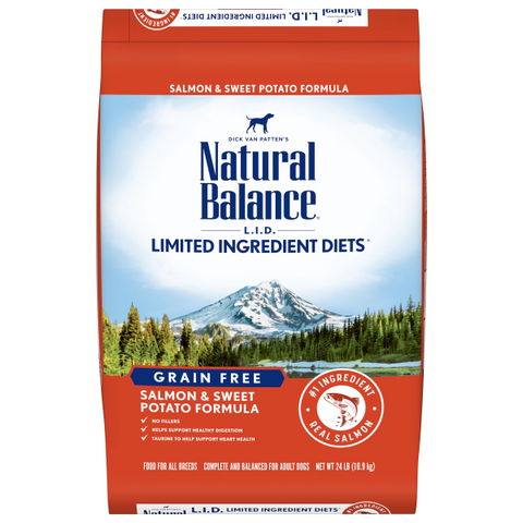 Natural Balance L.I.D. Salmon & Sweet Potato Dry Dog Formula; Available in 3 Sizes