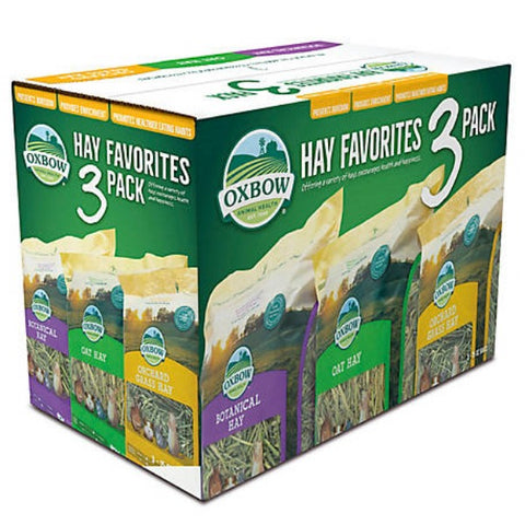 Oxbow Hay Favorites: Variety Hay 3 Pack