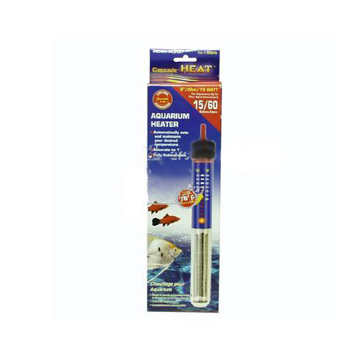 Cascade Preset Heater; Available in several sizes-Heating-Cichlid-8in 75w Submersible-Petland Canada