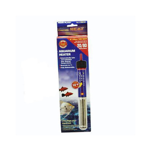 Cascade Preset Heater; Available in several sizes-Heating-Cichlid-8in 100w Submersible-Petland Canada