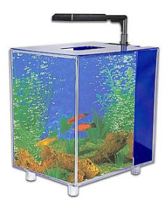 Prism 2gal Blue Desktop Aquarium