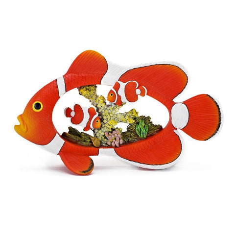 CLOWN FISH/CORAL DIORAMA 8.5in-Decor-Cichlid-Petland Canada
