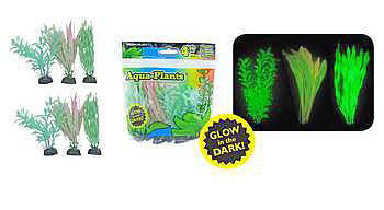 Aquaplant 4in Glow Plants 6pc Bag-Decor-Penn Plax-Petland Canada