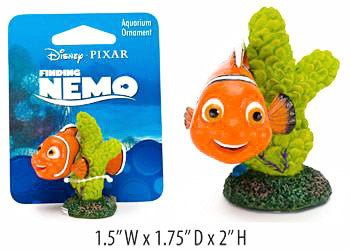 Finding Nemo On Coral Mini Resin Ornament Licensed-Decor-Penn Plax-Petland Canada