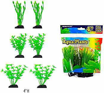 Aquaplant 3.5in Betta Green 6pc Bag