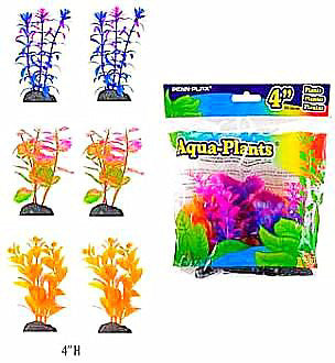 Aquaplant 3.5in Betta Various Colors 6pc Bag