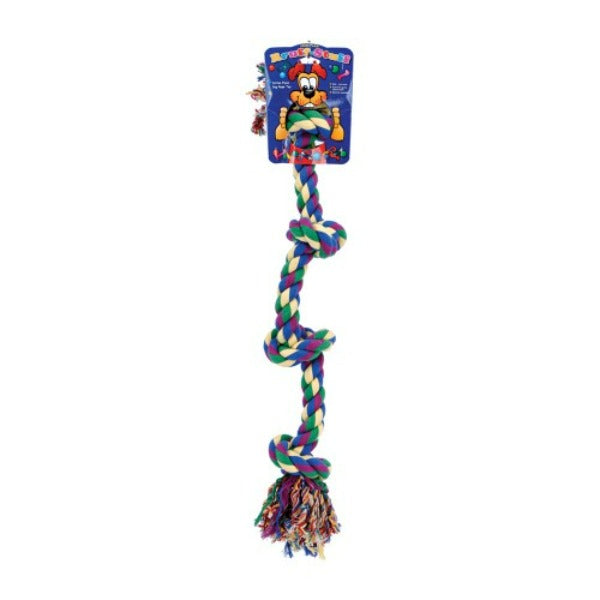 Lge 4-knot Colored Rope Bone Large-Toys-Penn Plax-Petland Canada