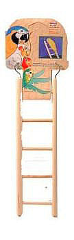 Penn Plax Wooden Bird Ladder; available in different sizes