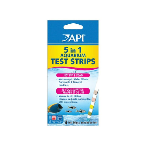 API 5 In 1 AquariumTest Strips 4ct