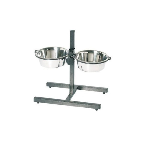Elevated Double Diner Dog Bowl Stand-Bowls & Feeders-Kumar-Petland Canada