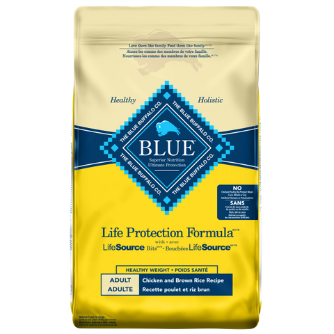 Blue Life Protection Formula Healthy Weight Adult Dog Food, Chicken & Brown Rice