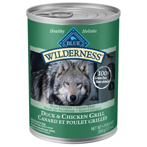 Blue Wilderness Canned Formula for Dogs: Available in different formulas-Food Center-Blue Buffalo Co.-Duck & Chicken Grill-Petland Canada