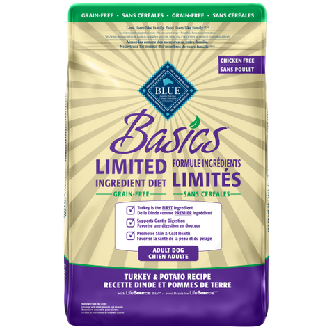 BLUE Basics Grain Free Adult Dog Turkey & Potato Recipe