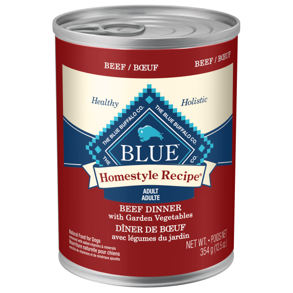 Blue Homestyle Recipe Canned Dog Food; Available in 5 styles
