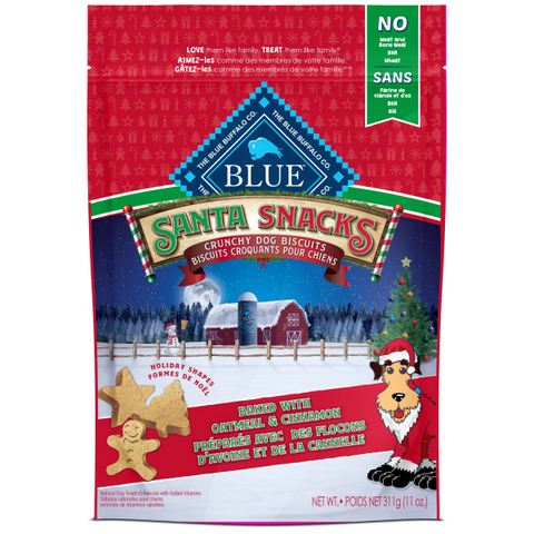 Blue Santa Snacks, Crunchy Dog Biscuits