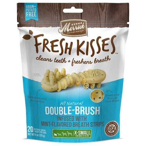 Merrick Fresh Kisses; Dental Chew for Dogs-Treats-Merrick-X-Small 20 Pack-Mint-Petland Canada