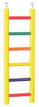 Ladder 6 Rung 12in Colored Cc Hwood-Perches & Ladders-Prevue Hendryx-Petland Canada