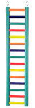 Ladder 15 Rung 24in Colored Cc Hwood-Perches & Ladders-Prevue Hendryx-Petland Canada