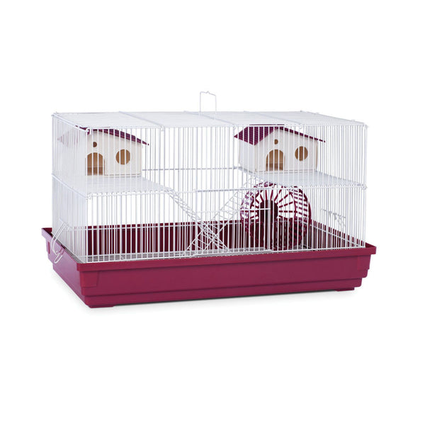 Prevue Deluxe Hamster and Gerbil Cage Red 22.5 inch x 12 inch x 12.5 inch