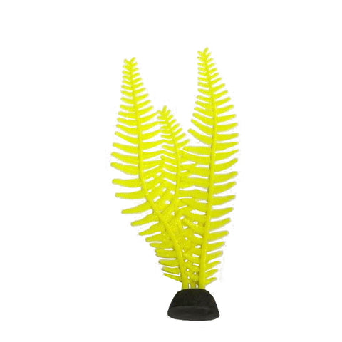 AquaLand Glow Yellow Feather Algae Silicone Aquarium Plant-Decor-AquaLand-Petland Canada