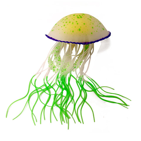 Aqualand Glow Jellyfish Silicone Aquarium Ornament-Decor-AquaLand-Petland Canada