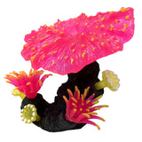AquaLand Glow Fungia Silicone Aquarium Ornament-Decor-AquaLand-Pink-Petland Canada