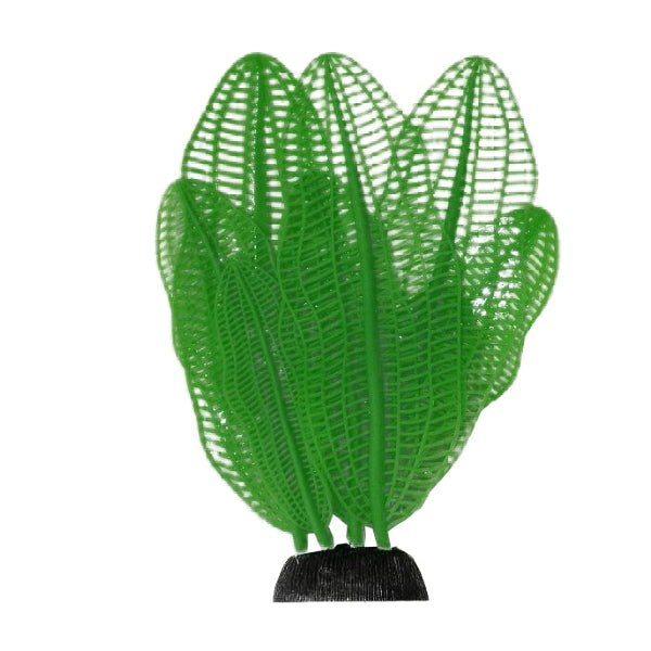 AquaLand Green Madagascar Laceleaf Silicone Aquarium Plant-Decor-AquaLand-Petland Canada