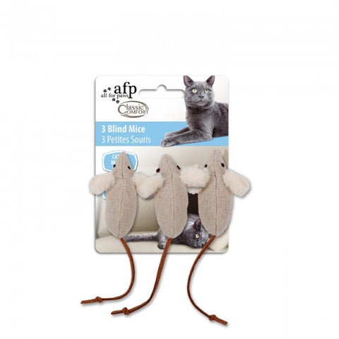 AFP Classic Comfort Cat Toys; available in different styles-Toys-All For Paws-3 Blind Mice-Petland Canada