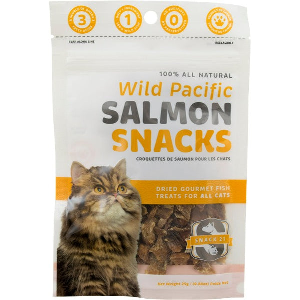 Snack 21 Salmon Snacks for Cats-Treats & Catnip-Snack 21-Default-Petland Canada