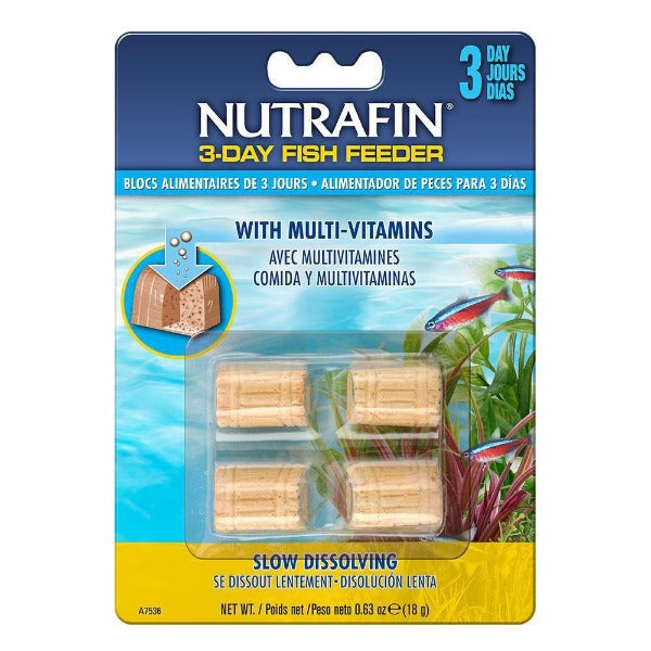 Nutrafin 3-Day Fish Feeder with Multi-Vitamins